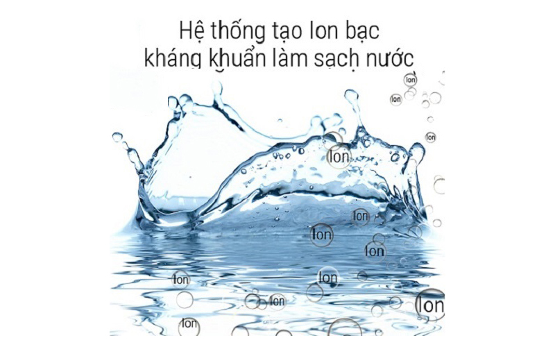Nguồn nước nóng tinh khiết, thư giãn với Ion bạc kháng khuẩn