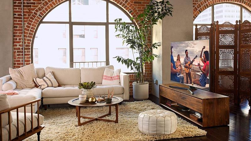 Smart tivi Samssung 55 inch 4K UA55NU7500 màn hình cong