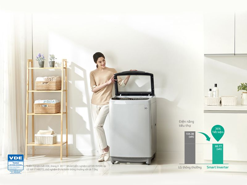 Máy giặt LG Inverter 8 kg T2108VSPW