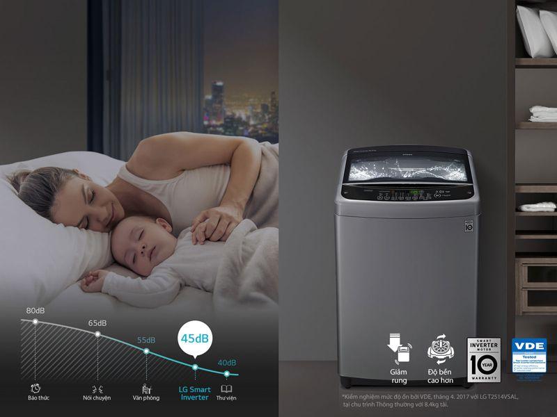 Máy giặt LG T2108VSPW 8 kg