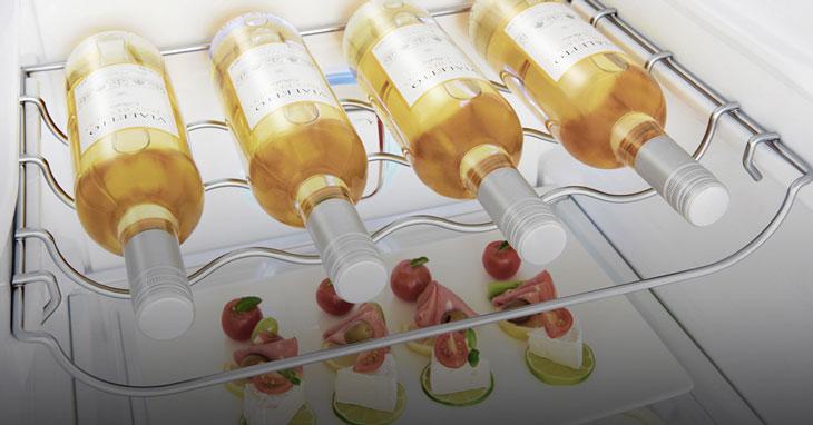 Tủ lạnh LG GR-Q247JS với thiết kế khung để rượu vang