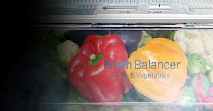 Ngăn cân bằng độ ẩm độc đáo FRESHBalancer™ -  tủ lạnh LG