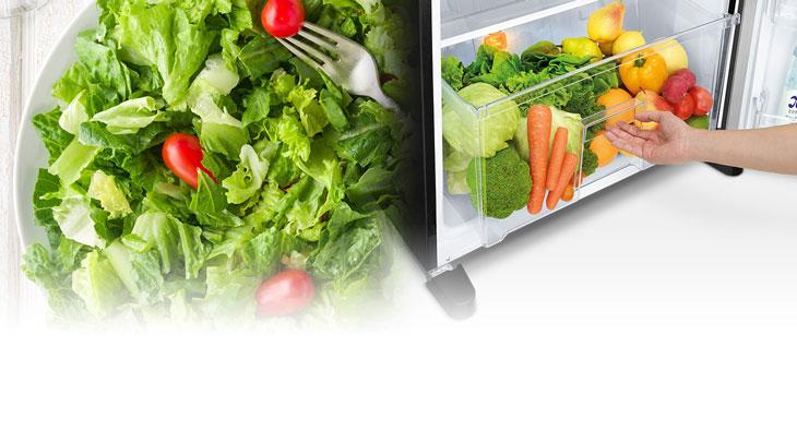 Tủ lạnh được trang bị đèn LED màu vàng cam giả lập ánh sáng mặt trời