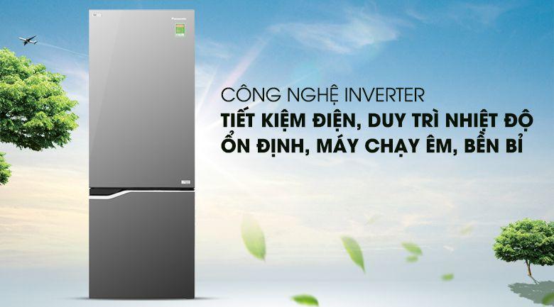 Tủ lạnh Panasonic NR-BV328GMV2 được trang bị công nghệ inverter