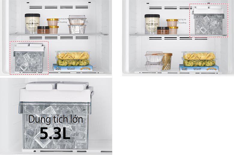 Tủ lạnh Hitaichi R-FG510PGV8 với thiết kế khay đá