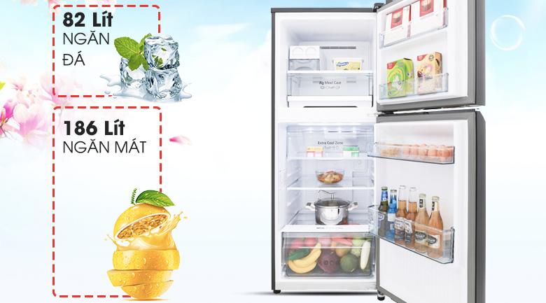 Tủ lạnh Panasonic NR-BL300GAVN có dung tích sử dụng 268 lít