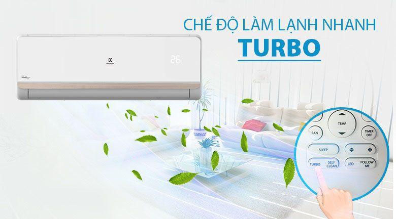 làm lạnh nhanh Turbo được trang bị trên điều hòa Electrolux inverter