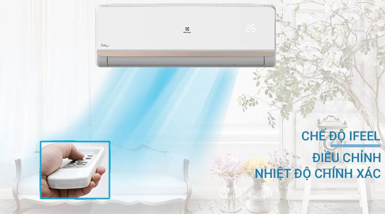 điều hòa Electrolux 9000BTU có thể cảm biến nhiệt độ ở vị trí đặt điều khiển