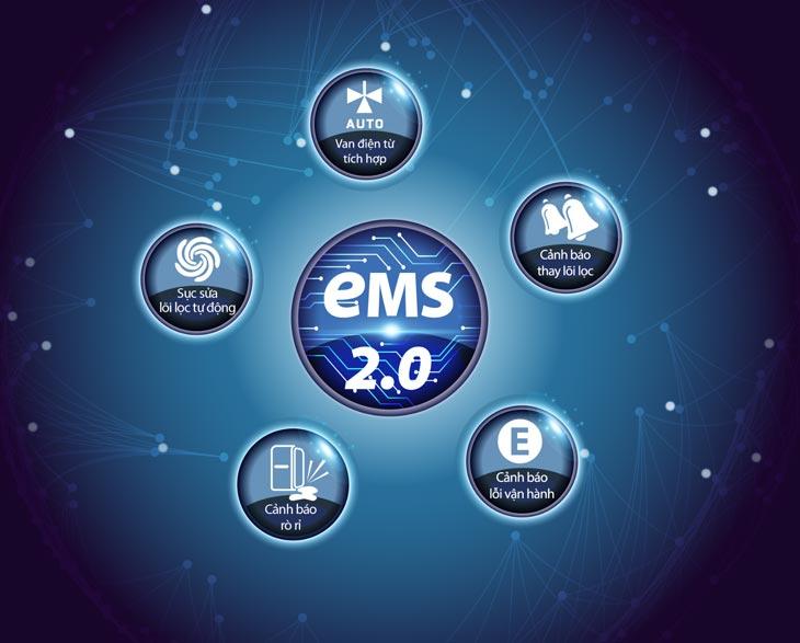 Máy lọc Nước AO Smith G2 được trang bị hệ thống giám sát điện tử EMS 2.0