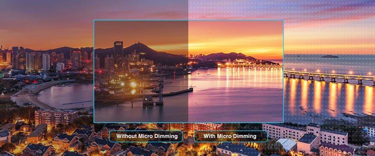 Smart tivi TCL được trang bị công nghệ Micro Dimming